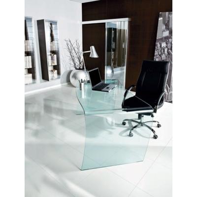 Модел Magister - работна маса/ бюро от закалено 15mm стъкло. . Производител: Unico Italia, Италия. Модерни италиански стъклени р