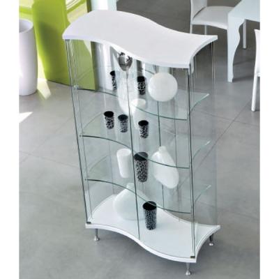 Стъклена витрина мод. Senna. Производител: Unico Italia, Италия. Модерни стъклени витрини за дневна и трапезария.