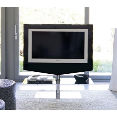 TV стойка мод. Up - хромирана стомана и закалено стъкло. Производител: Unico Italia, Италия. Модерни италиански стъклени TV стой