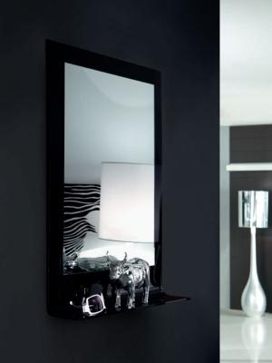 Огледало мод. Volga - рамка и рафт от извито закалено стъкло. Производител: Unico Italia, Италия. Модерни и луксозни италиански