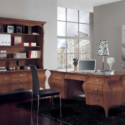 Класически офис мебели от масив и естествен фурнир. Колекция Veronica. Производител: Crema Francesco, Италия. Класически италиан