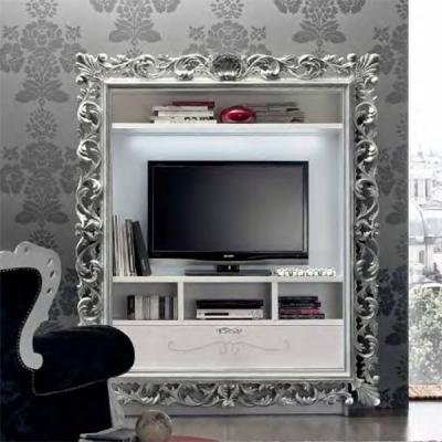 Класическа стойка за телевизор мод. Vogue. Производител: Gruppo Santarossa, Италия. Класически италиански мебели за дневна.