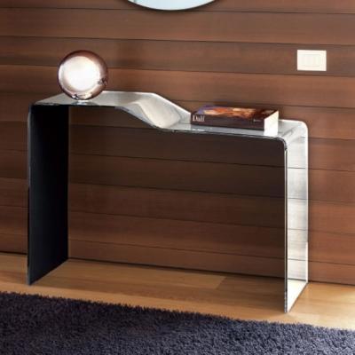 Конзола модел Xeno - закалено стъкло с огледален ефект. Производител: Unico Italia, Италия. Модерни италиански конзоли от стъкло