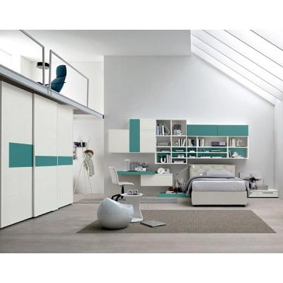 Модерни италиански мебели за детски и юношески стаи. Колекция Golf Young от Colombini, Италия. Мебели, осветление и аксесоари за