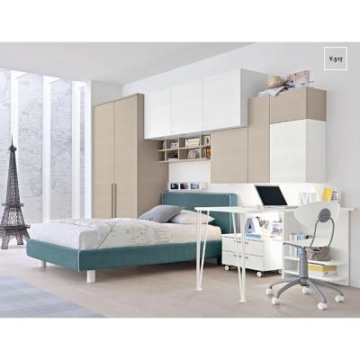 Модерни мебели за юношески стаи. Колекция Golf Young, примерна композиция Y517. Colombini, Италия. Италианско обзавеждане за юно