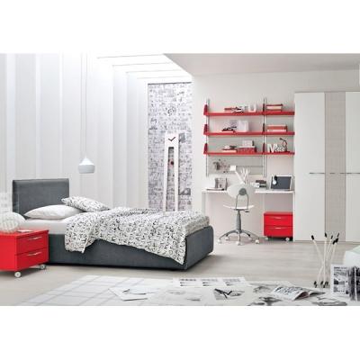 Модерни мебели за юношески стаи. Колекция Golf Young, примерна композиция Y518. Colombini, Италия. Италианско обзавеждане за юно