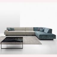 Модулен диван с кожена или текстилна тапицерия модел Zara. Nicoline, Италия. Луксозни италиански мебели - дивани, мека мебел, кр